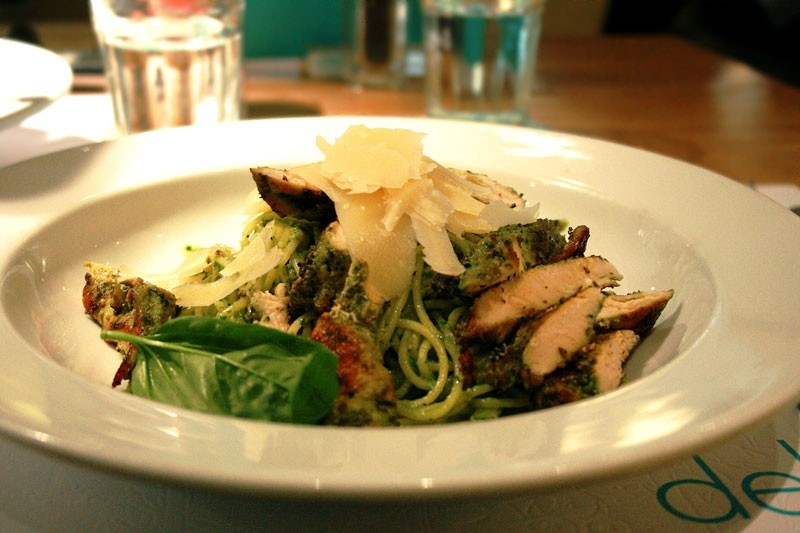 Pesto Spaghettini with Chargrilled Chicken