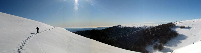 Montagne de Lure sous la neige