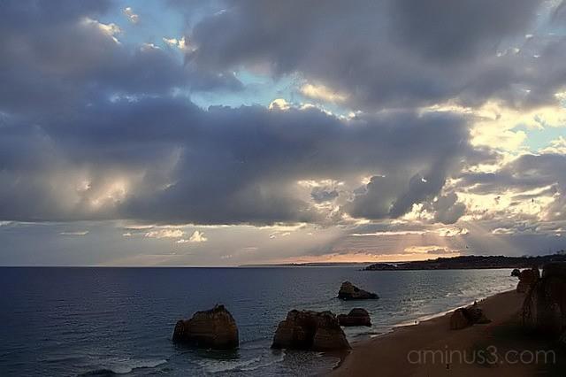 Sunset over Algarve, Portugal