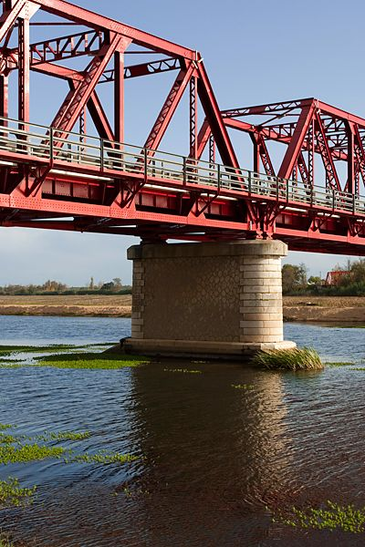 Metal bridge over Tejo river