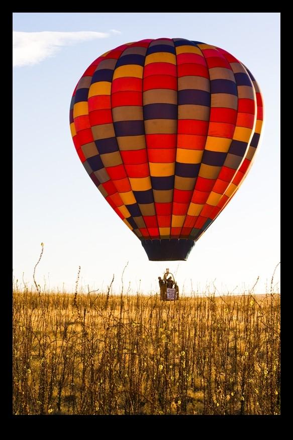 hot air balloon lifting off
