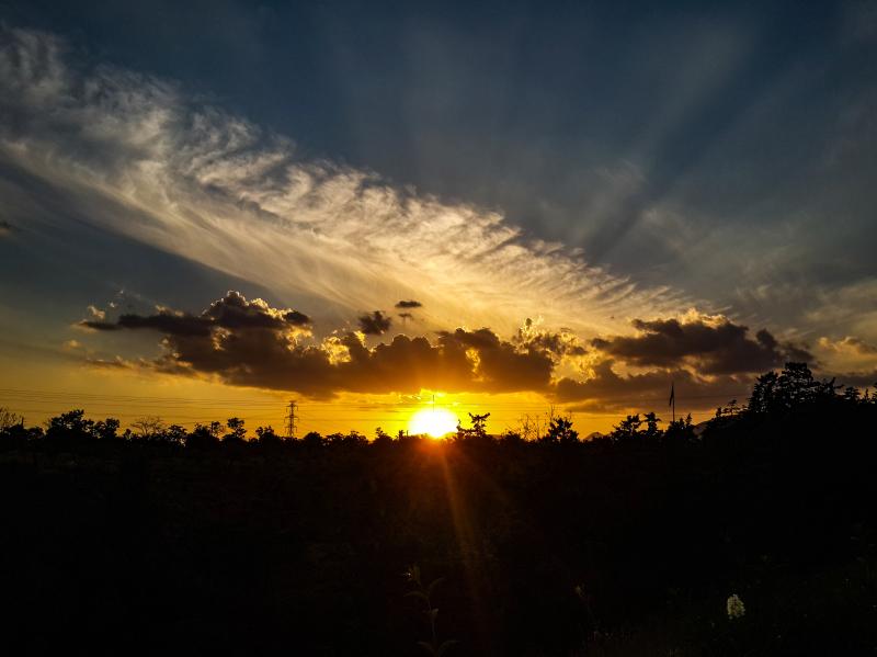 A Beautiful sunset in pardisan park, Tehran IRAN