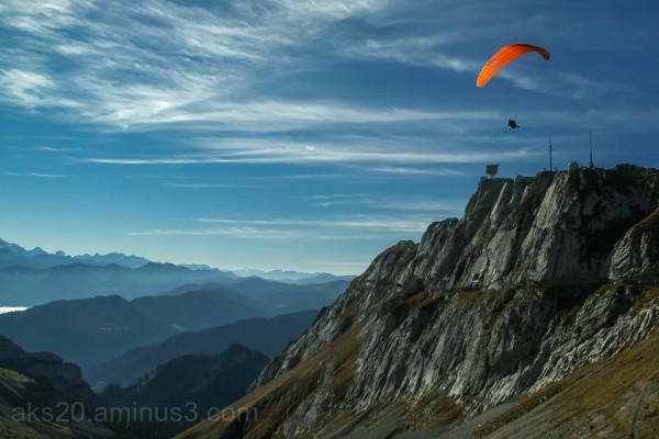 In the top of Pilatus Mountain Lucerne Switzerland