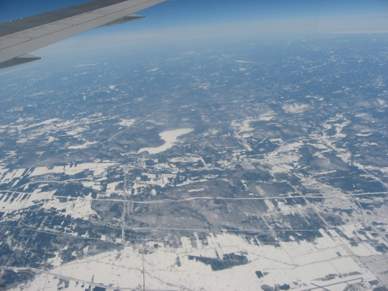 Flying over Canada