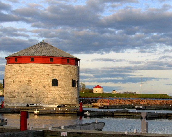 Martello towers guarding Kingston.