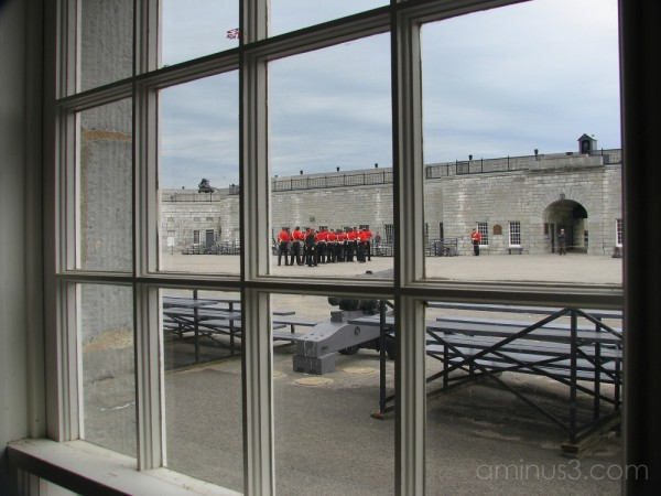 The Fort Henry Guard work on their drill.