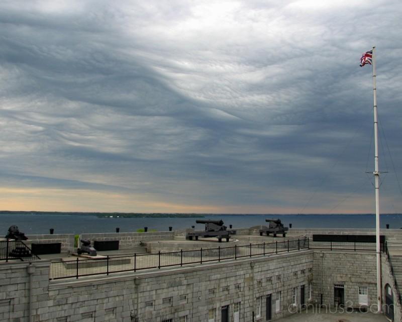 Dark clouds over Old Fort Henry
