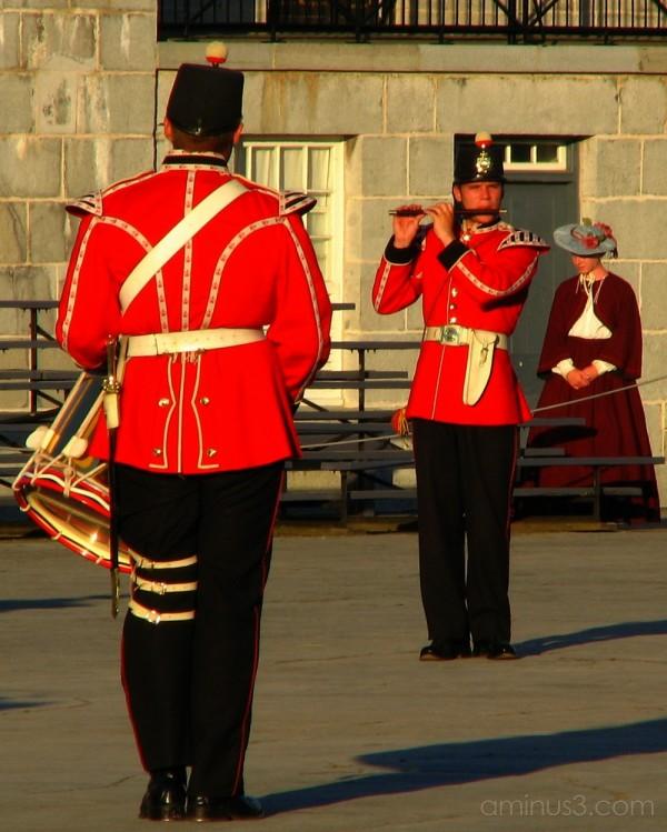 Fort Henery sunset ceremony