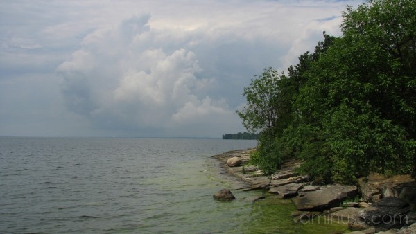Gathering storm over the lake.