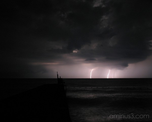 Lightning off shore at Selkirk Shores State Park