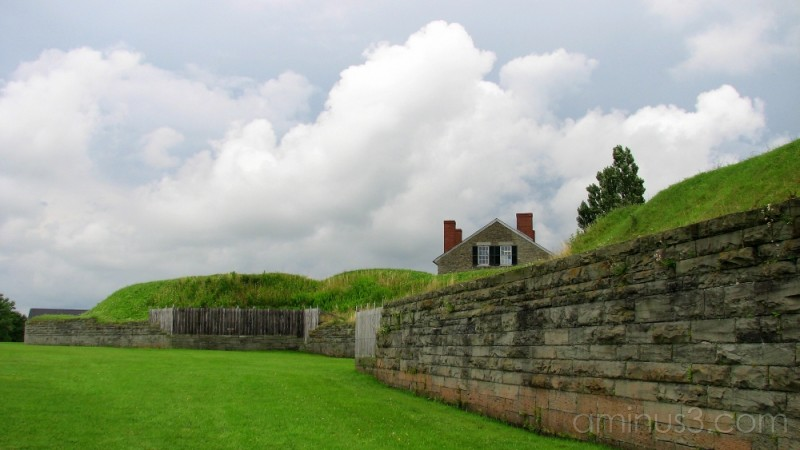 Clouds over Fort Ontario in Oswego, NY.