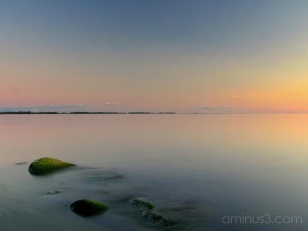 Islands at dusk.