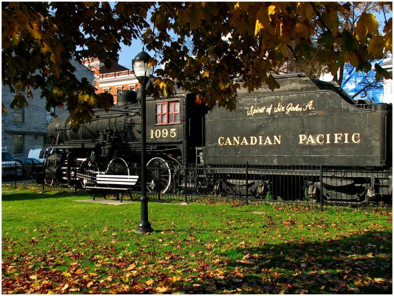 Train in downtown Kingston.