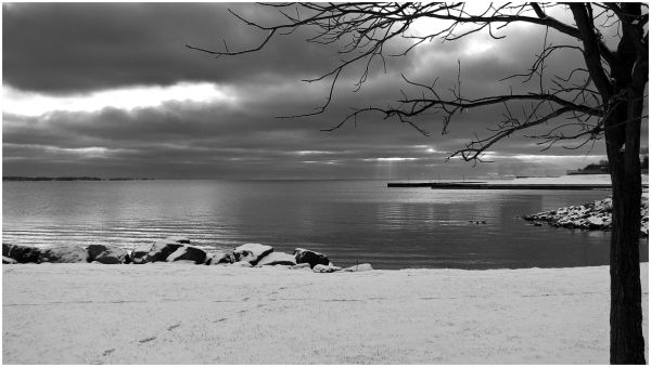 Winter arrives on the shores of Lake Ontario