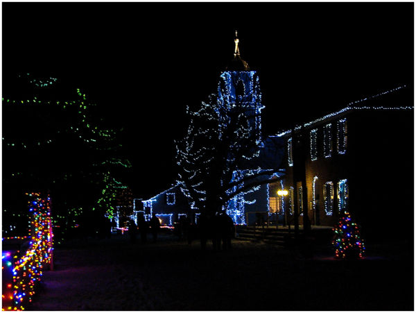 Main street in the Village of Lights
