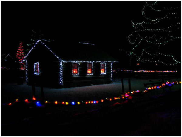 School House in the Village of Lights