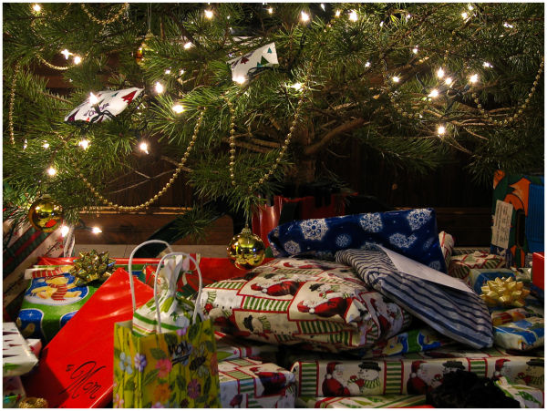 The presents are under the tree..