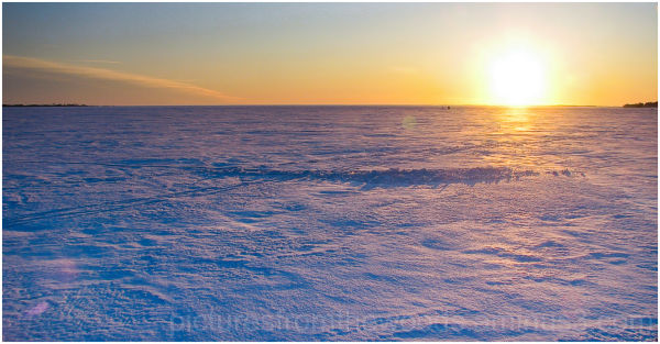 A walk on the frozen surface of Lake Ontario.