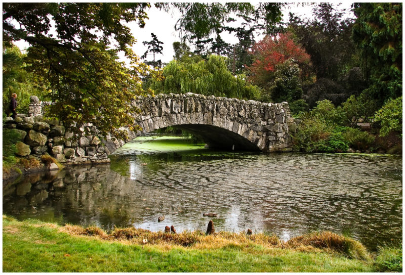 Beacon hill park stone bridge landscape rural photos for Landscaping rocks victoria bc