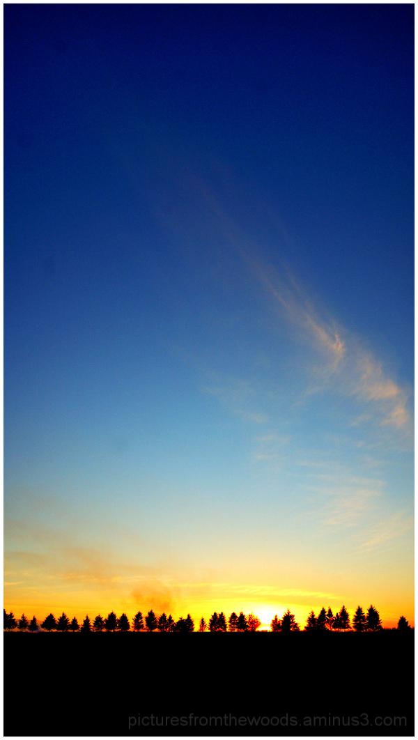 Last sunset of autumn.