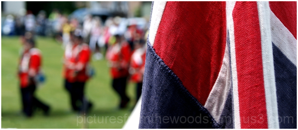 British re-enactment troops march