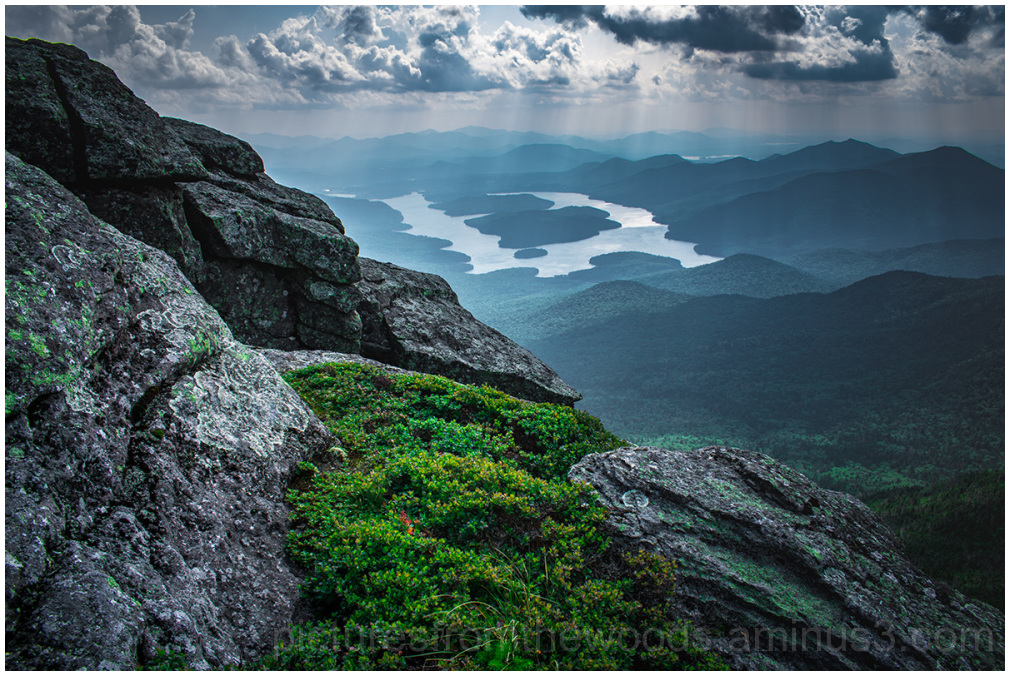 Lake Placid from the peak of Whiteface.