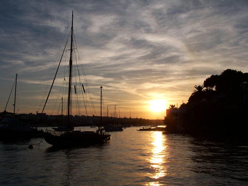 Posta de sol al Port de Maó