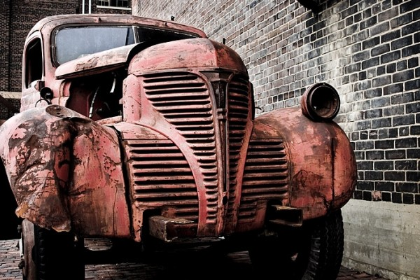 rusting truck