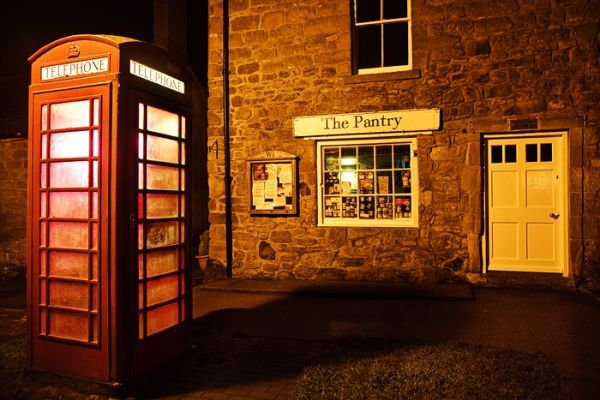 british phonebox bamburgh