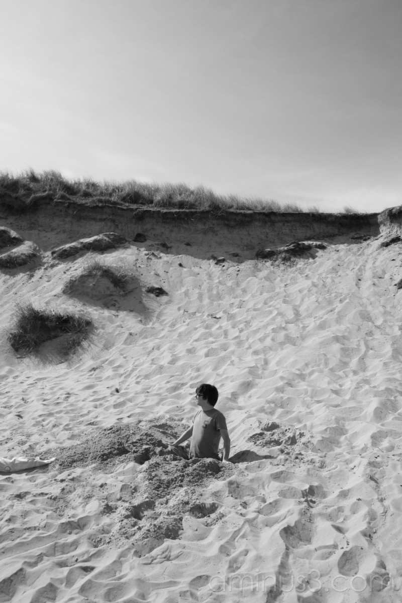Half Sand. Half Hole. All Man!