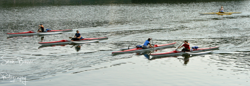 Rower in vancouver river