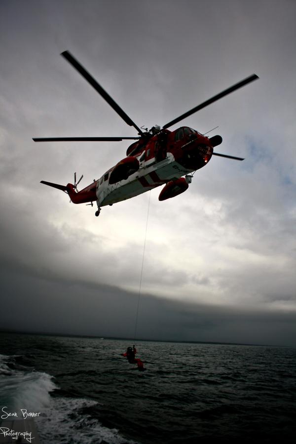 The Irish Coast Guard helicopter