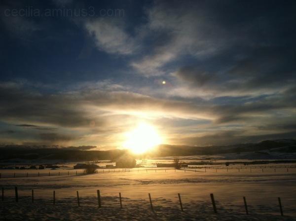 afton sunset