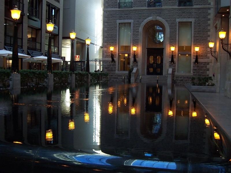 Beautiful indoor fountain in Montreal