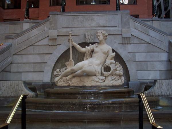 Indoor Statue Fountain