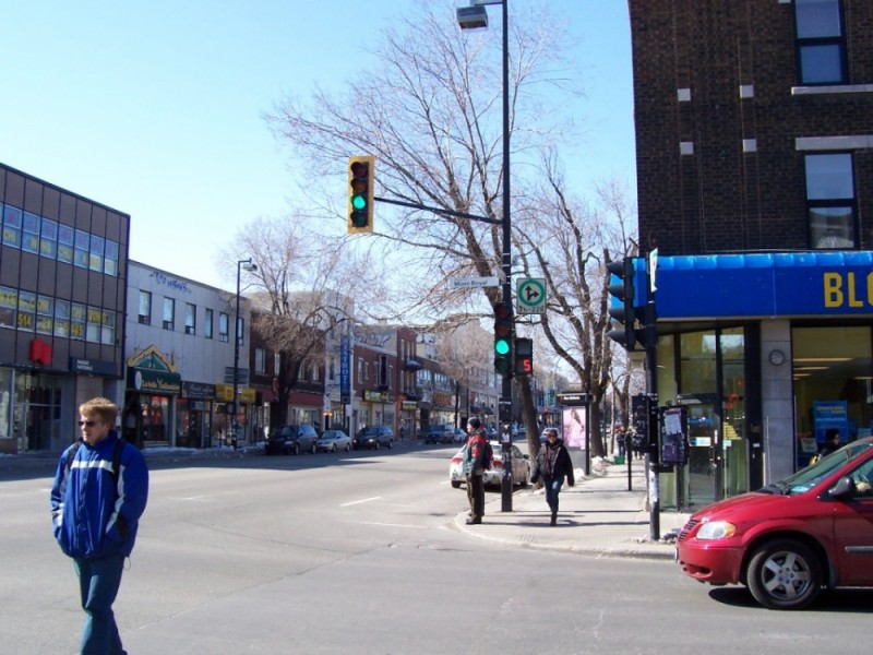 A typical street in Plateau Mont-Royal