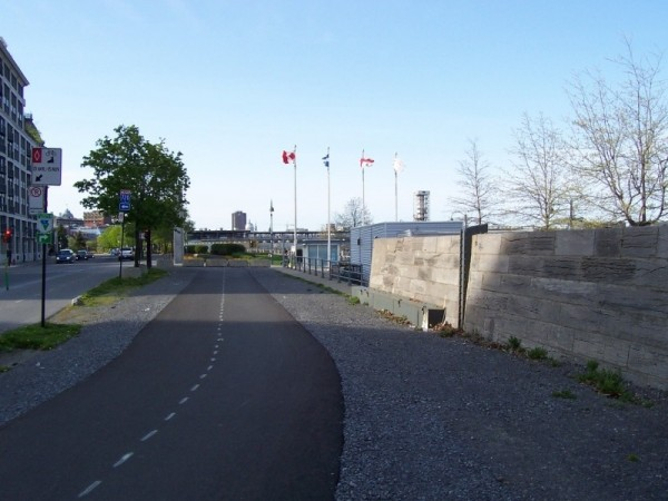 Route Verte near the Old Port of Montreal