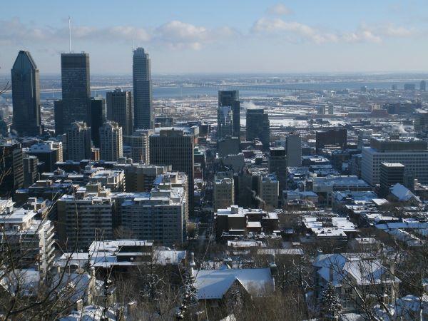 Vue du centre-ville sur le Mont-Royal