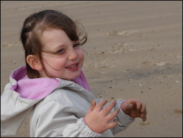 My second cousin on the beach, Sep '07