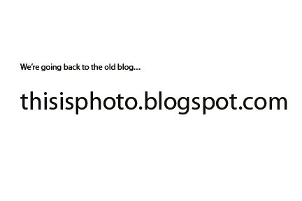 Going Back to the old blog