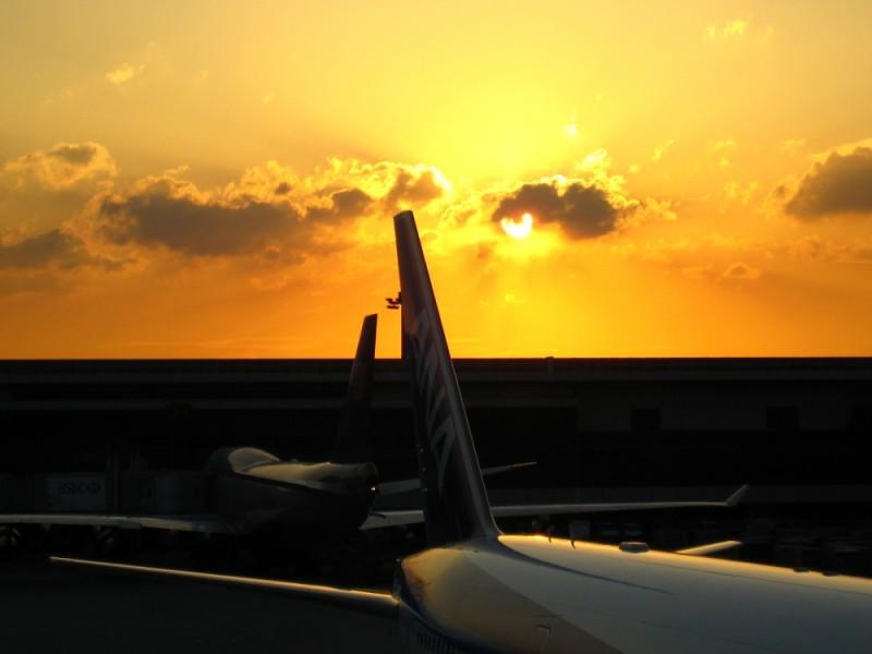 sunset narita airport