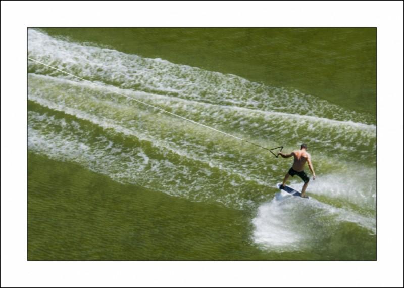 Esquí nàutic al pantà de Sau