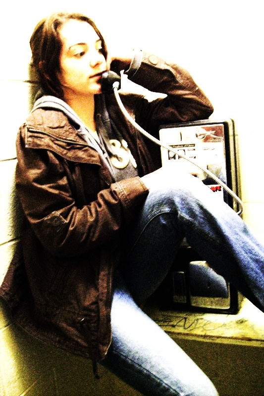 May in a phonebooth