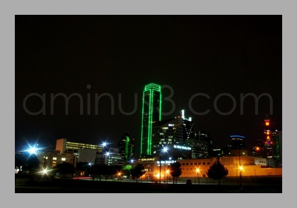 View from Reunion Arena of Downtown Dallas