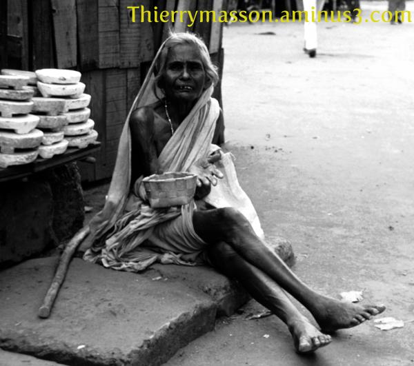 scène de misère à Madras