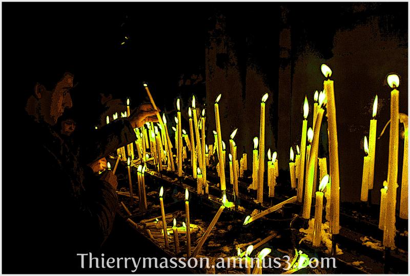 les cierges de Notre Dame