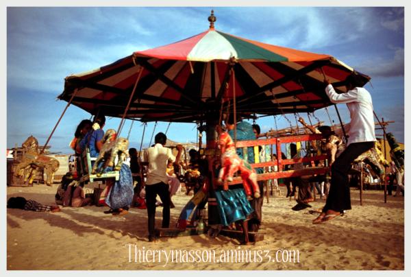 manège sur la plage à Madras