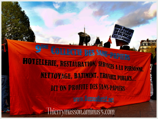 manifestation de sans papiers le 4 novembre 2009