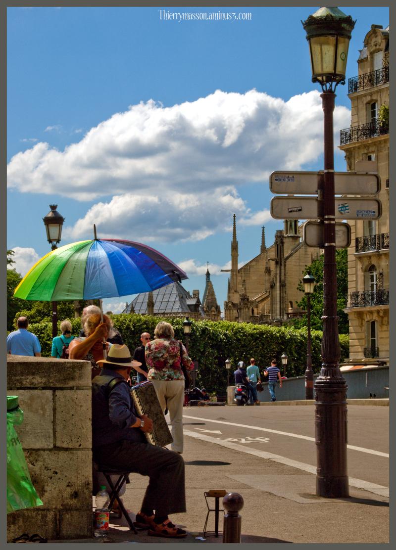 carte postale sur Paris