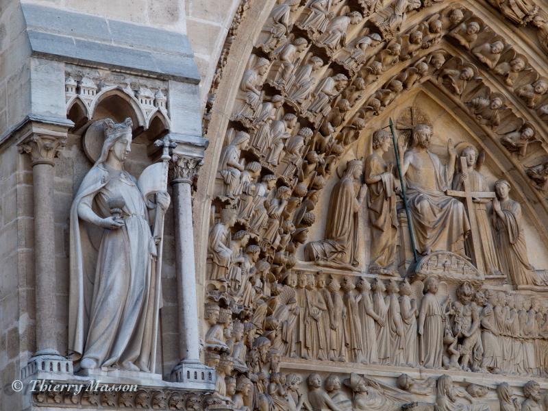Le tympan du portail du Jugement Dernier